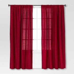 "1 Threshold red curtain 54""x95"""